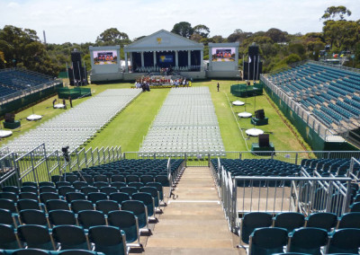Temporary Grandstand, bleachers and tiered seating No Fuss Seating Systems
