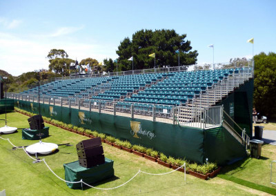 Demountable Grandstands at the President's Cup by Australian Seating Systems