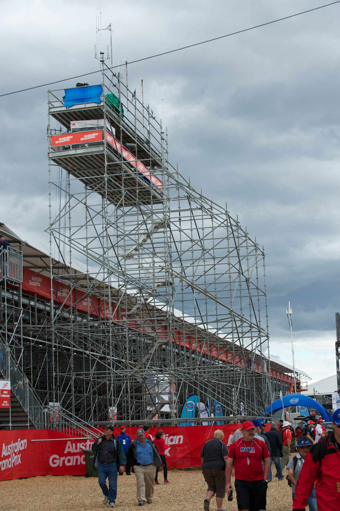Event Scaffolding at Albert Park, Melbourne Grand Prix