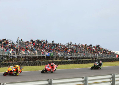 Temporary Grandstand Seating Hire for Moto GP by No Fuss Seating Systems